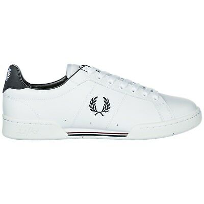 Fred Perry Scarpe Sneakers Uomo In Pelle Nuove B7222 Bianco 5B3