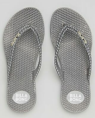 City Beach Billabong Womens Kick Back Metallic Thongs