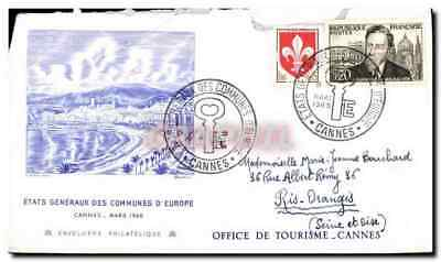 FDC General states of the communes of Cannes Europe March 1960