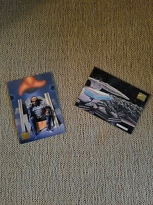 """1994 Lot of 2 Star Trek: Master Series 2 """"Promo Cards"""" CARD COLLECTOR'S & S2"""
