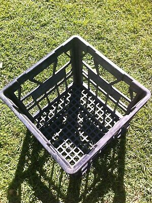 2 Milk Crates, Used- Ideal For Use As A Container, Red or Black