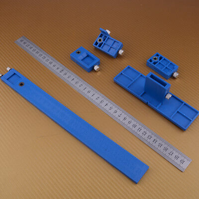 L Punch Locator Drill Guide Sleeve Cabinet Hardware Jig Drawer Wood Drilling