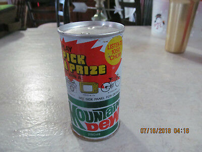 Mountain Dew Can Rare Unusual Hard 2 Find Radio Promotion 1050 CHUM Bucket SWEET