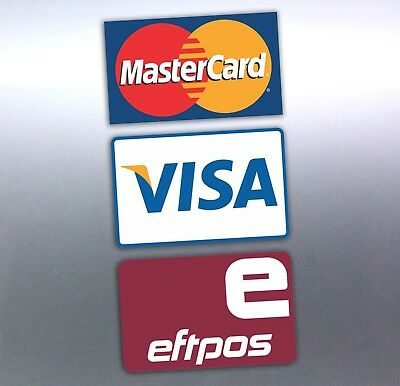 Eftpos available stickers 150x90mm mastercard visa E card business paywave phone
