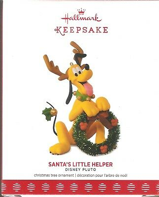 2017 Hallmark Ornament  Santa's Little Helper   Pluto