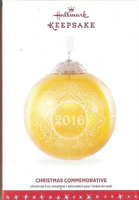 2016 Hallmark Ornament  Christmas Commemorative 2016