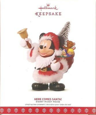 2017 Hallmark Ornament  Here Comes Santa  Mickey Mouse
