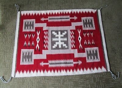 Authentic Hand Woven Navajo Rug Wool Artwork by Native Navajo Yazzie