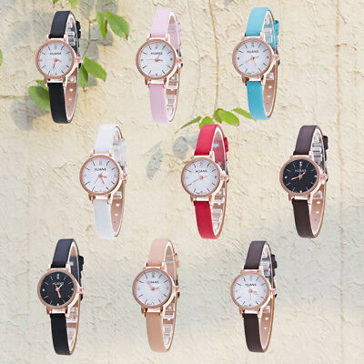 Women Girls Small&Elegant Quartz Leather Band Watch Casual All Matched Watches