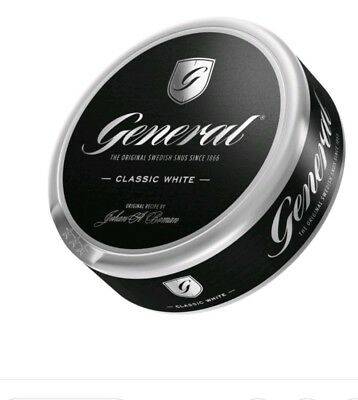 GENERAL SNUS White Portion! 1 Can! Fast free shipping from u.s.