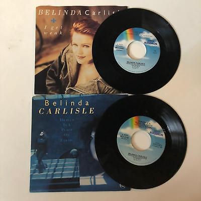"BELINDA CARLISLE  45rpm  Lot of 2 records  7"" Vinyl VG++ JUKEBOX"