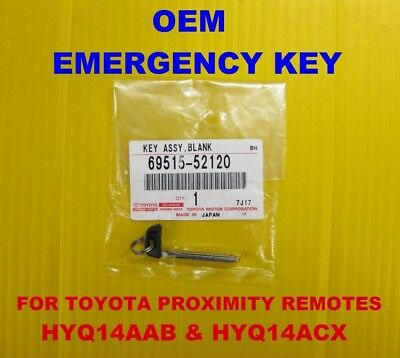 NEW OEM Toyota Smart PROX Emergency Key Blade 69515-52120 HYQ14AAB ACX AAF AEM