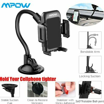 Mpow Car Dashboard/Windshield Phone Holder Long Arm Sucker Mount For Cell Phones