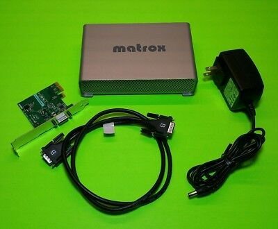 NEVER USED - COMPLETE Matrox MX02 HDMI in/out Mini Hardware with Pci-e Card