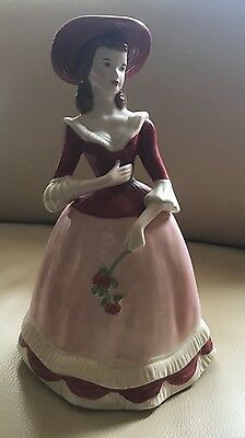 Holland Mold porcelain lady with roses: Excellent detailing; signed by sculptor