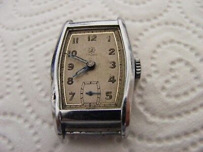 vintage JUNGHANS mid size art deco hand wind watch-non runner-spares/repairs etc
