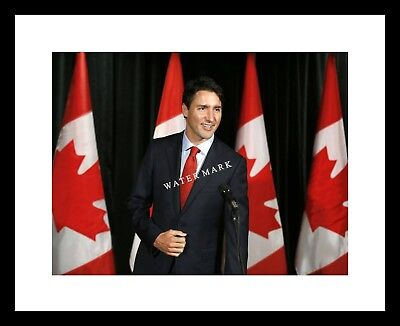 Justin Trudeau 8x10 Photo Print Canadian Prime Minister PM Canada Flag