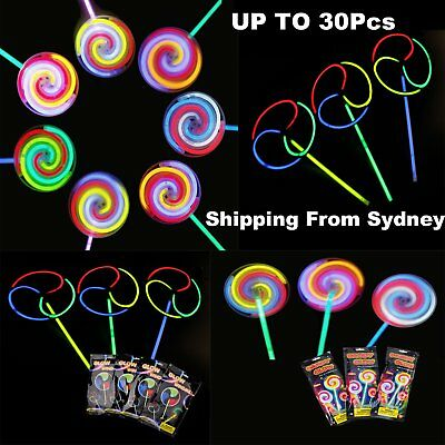 1-30x Helicopter Windmill Lollipop Wand LED Glow Sticks Spinning Light Party Toy