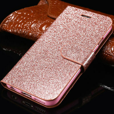 Luxury Magnetic Bling Glitter Leather Flip Case Wallet Cover For Samsung A3 A5