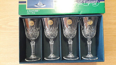 4 Cristal d'Arques Fontenay, wine glasses, boxed