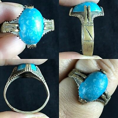 Unique late medieval lovely rare wonderful bronze ring