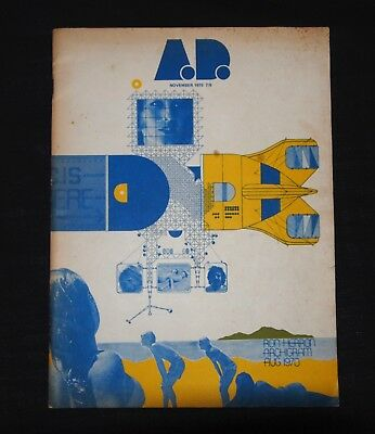 Vintage A.D. Architectural Magazine November 1970 Archigram Issue