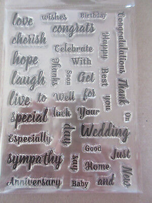A6 Clear Stamp Small Sentiments