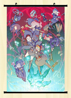Anime Wall Scroll poster Little Witch Academia All Character Art Home Decor Gift