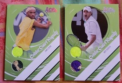 2-cards LOT RODDICK BLAKE Authentic Center Court Royalty card #44/250 #151/250
