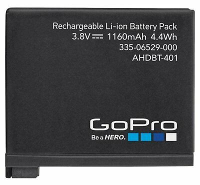 Original Genuine GoPro Rechargeable Battery for HERO4 Black Silver AHDBT-401