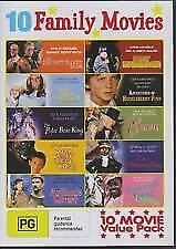 10 FAMILY MOVIES COLLECTION includes HUCKLEBERRY FINN - DVD, R-ALL, BRAND NEW