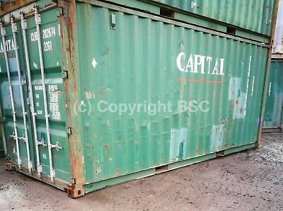 Used 20ft shipping containers in London. Ideal for storage and export £1295 +VAT