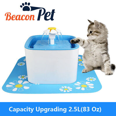 2.5L 83Oz AUTOMATIC CAT DOG WATER DRINKING FLOWER FOUNTAIN PET BOWL DISH FILTE