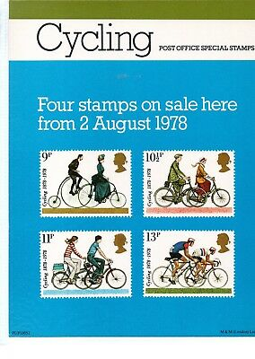 Gb - Royal Mail Posters - A4 - 1978 -  Cycling