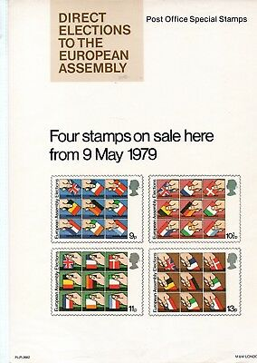 Gb - Royal Mail Posters - A4 - 1979 -  Direct Elections - Europe