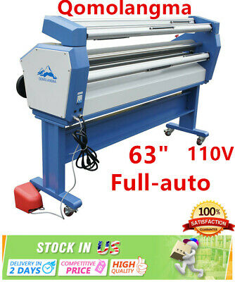 "USA 110V 63"" Full-auto Powerful Wide Format Laminator Cold Laminating Machine"