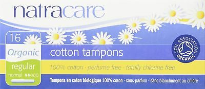 NATRACARE Organic Regular Tampons with Applicator16 Count Pack of 3