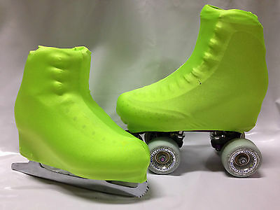 Plain Fluro Green Boot Covers for RollerSkates and Ice Skates  S,M,L