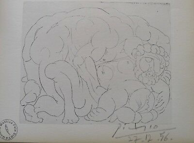 Pablo Picasso  Vollard Suite Lithograph hand Signed & stamp
