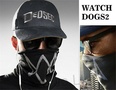 Movie Men Watch Dogs Marcus Holloway Fashion Apparel Cap and Mask Hot