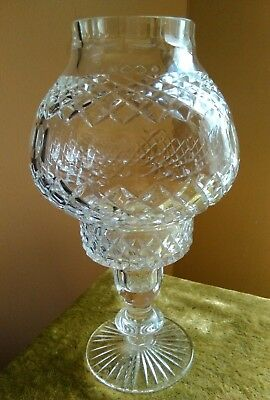 Tyrone Irish crystal candle holder  perfect undamaged 8 inches cut glass