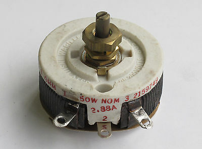 Ward Leonard 6 ohm 50 watt rheostat - 50 watt variable resistor
