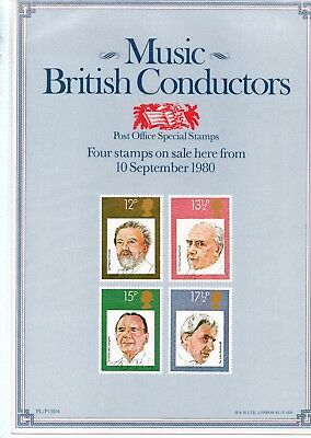 Gb - Royal Mail Posters - A4 - 1980 -  Music - British Conductors