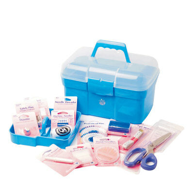 Blue Plastic Deluxe Filled Sewing Kit | Hemline A2076/G001