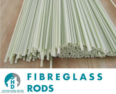 2 x 3m Long Fibre Glass Quality Rods 4mm Thick Roman Blinds - CHEAPEST ON EBAY!