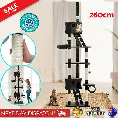 Cat Scratching Post Tree Post House Tower with Ladder Furniture X Large 260 cm