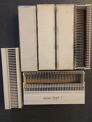 Sawyer's Easy Edit Slide Trays, 36 Slots, Used, Good Condition (Lot Of 27)