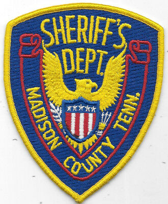 """Police Patch: Sheriff's Dept. Madison County Tennessee Tenn. 4 1/2"""" X 3 1/2"""""""
