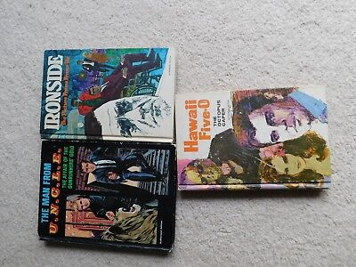 LOT of 3 TV adventures Whitman Man from UNCLE,Hawaii Five O,Ironside
