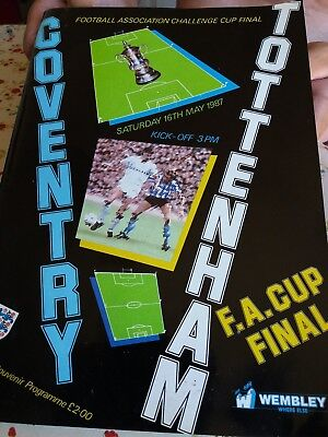 FA Cup Final Programme Coventry v Spurs 1987